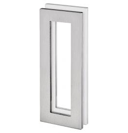 Mušle na skleněné posuvné dveře JNF IN.16.558.A - Broušená nerez
