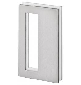 Mušla na sklenené posuvné dvere JNF IN.16.560.A - Brúsená nerez