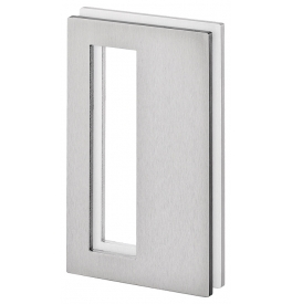 Shell for glass sliding door JNF IN.16.560.A - Brushed stainless steel