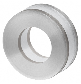 Shell for glass sliding door JNF IN.16.553.A - Brushed stainless steel