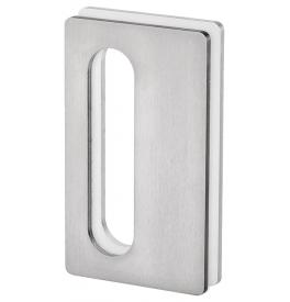 Mušle na skleněné posuvné dveře JNF IN.16.564.A - Broušená nerez