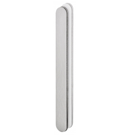 Shell for glass sliding door JNF IN.16.556.A - Brushed stainless steel