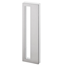 Shell for glass sliding door JNF IN.16.561.A - Brushed stainless steel