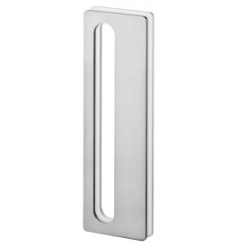Shell for glass sliding door JNF IN.16.565.A - Brushed stainless steel