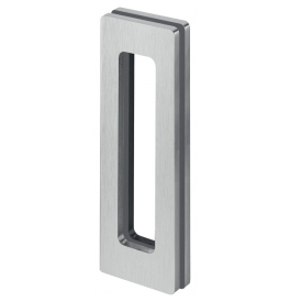 Shell for glass sliding door JNF IN.16.530 - Brushed stainless steel