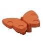 Plastová knopka Motýľ Oranžová