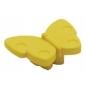 Plastová knopka Motýľ Žltá