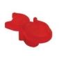 Plastová knopka Mačka Červená