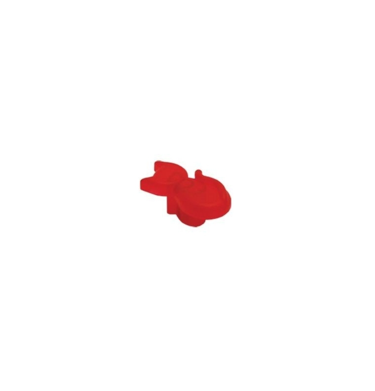 Plastová knopka Kočka Červená