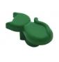 Plastová knopka Kočka Zelená