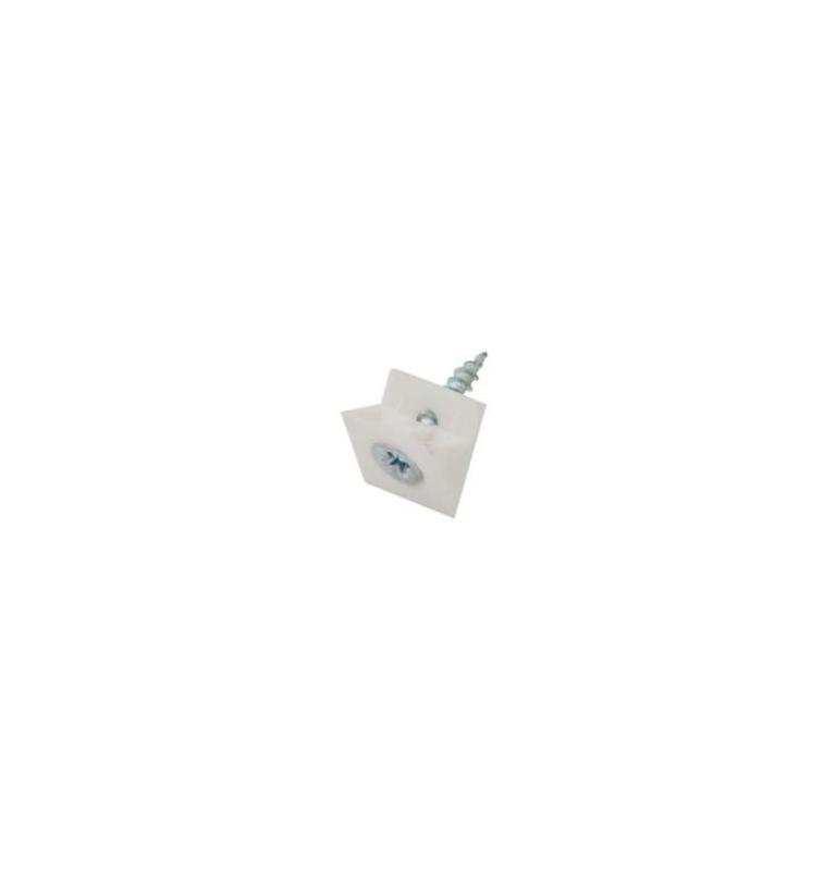 Upevňovací trojuholník so skrutkou (100ks) Biely