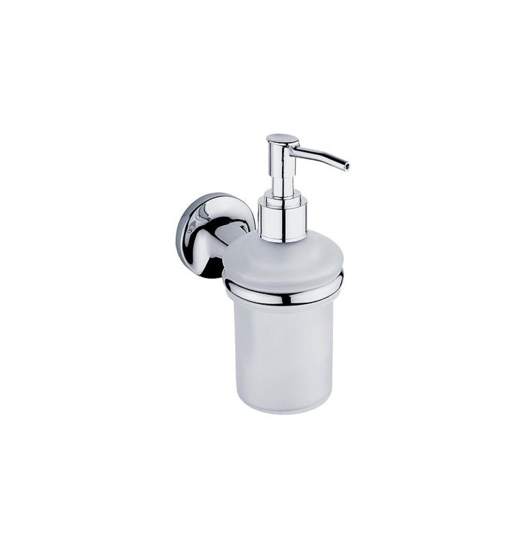 Dávkovač na tekuté mýdlo se skleněnou nádobkou NIMCO Monolit
