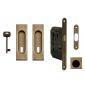 Set na posuvné dvere hranatý FT - OGS - Bronz česaný mat