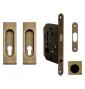 Kwadratowy zestaw do drzwi przesuwnych FIMET - OGS - Brąz szczotkowany matowy