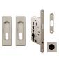 Square set for sliding doors FIMET - NP - Nickel pearl