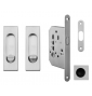 Square set for sliding doors FIMET - OCS - Brushed chrome