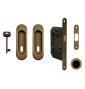 Set na posuvné dveře oválný FT - OGS - Bronz česaný mat