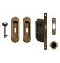 Set na posuvné dvere oválny FT - OGS - Bronz česaný mat