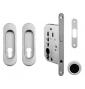 Set na posuvné dvere oválny FT - OCS - Chróm brúsený
