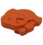 Plastová knopka Slon Oranžová