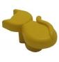 Plastová knopka Kočka Žlutá
