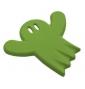 Dětský nábytkový úchyt Strašidýlko Zelené