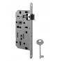 Zámok do dverí VR - 035 - OCS - Chróm brúsený - BB - otvor pre kľúč