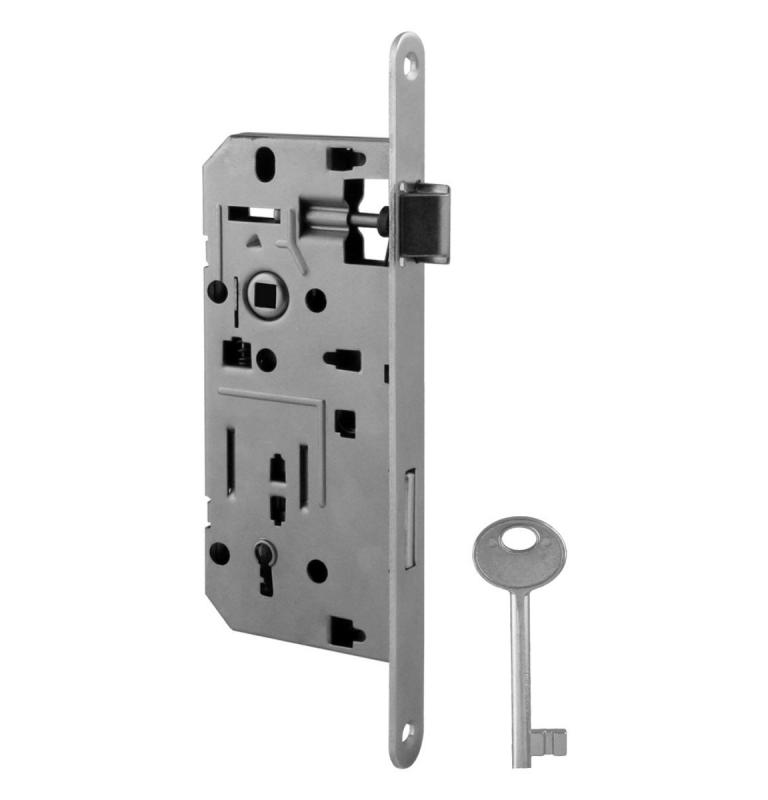 Zámek do dveří VR - 035 - OCS - Chrom broušený - BB - otvor pro klíč
